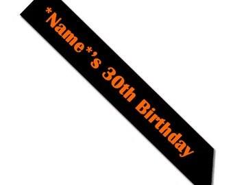 Custom 30th Birthday Sash