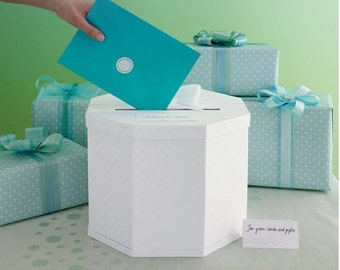 Wedding Gift Card Box White Eyelet, Also Can Be Keepsake To Store Memorabilia And Cards, Perfect Gift Box For Weddings, Create Your Own Box