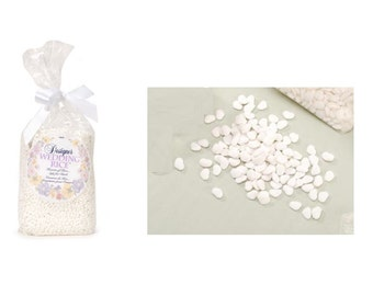 One Pound Of Heart Shaped Wedding Rice Makes, Safe Wedding Rice For Elegant Weddings Or Other Special Occasions, Party Favor Heart Rice