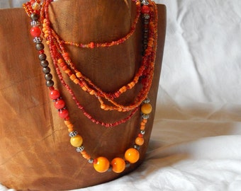 CUSTOM Made to Order - Multi-strand beaded necklace