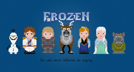Frozen Movie Characters - Digital PDF Cross Stitch Pattern