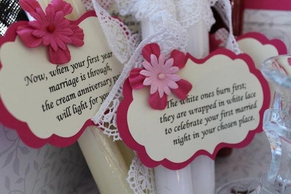 Candle Poem For Wedding Gift: Wedding Shower Candle Poem Gift Set. Bridal Candle Basket