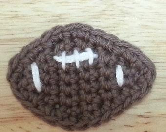 Crochet football Applique
