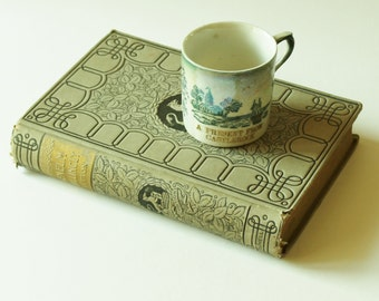 """Vintage """"A Present from Castlerock"""" souvenir china cup, American places cup collection, cottage chic décor"""