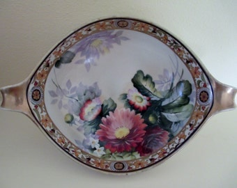 Hand Painted Nippon Morimura Brothers Bowl; Antique Bowl, Antique Nippon, Antique Morimura Brothers, Nippon Bowl, Morimura Brothers Bowl