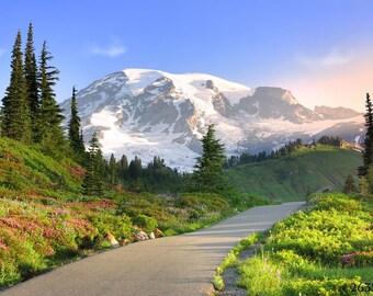 National Park photography - Mt Rainier in Autumn, Washington State, USA