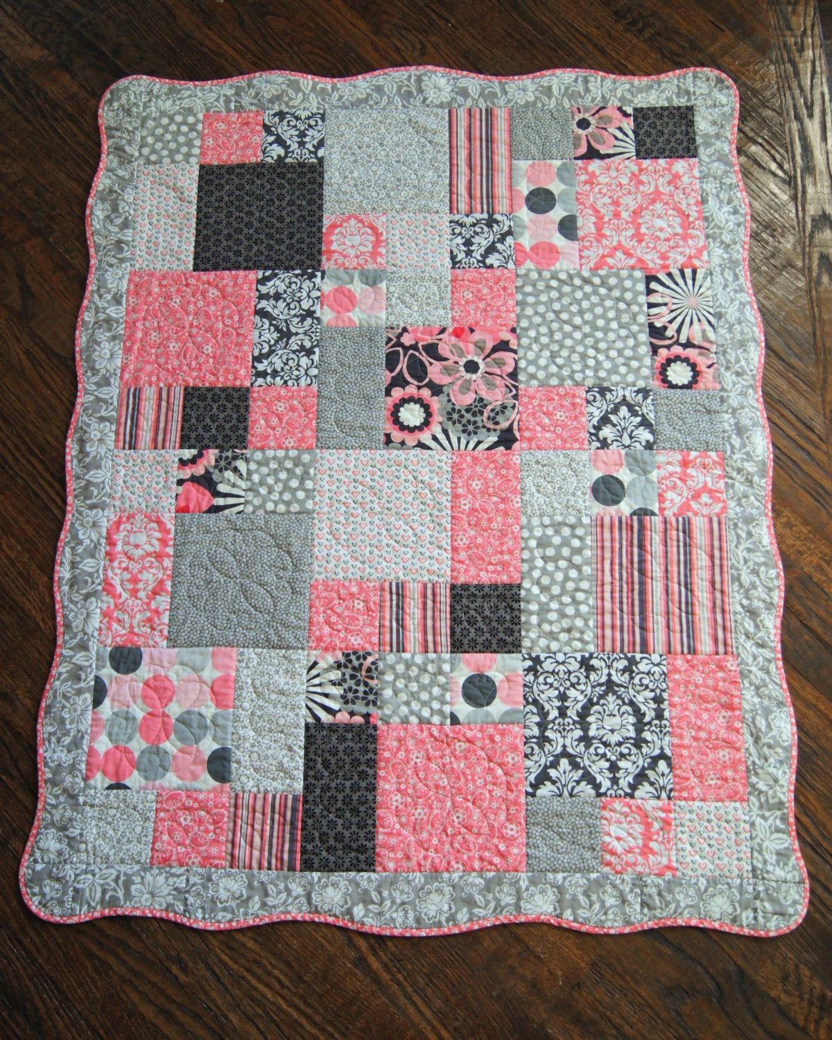 Quilt Patterns For A Girl : Custom Baby Quilt Made to Order Girl-Boy-Neutral by iloveicreate