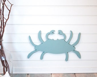 Blue Crab beach wall decor, nautical home,beach house, nautical nursery, sea creatures, blue under the sea,cottage decor
