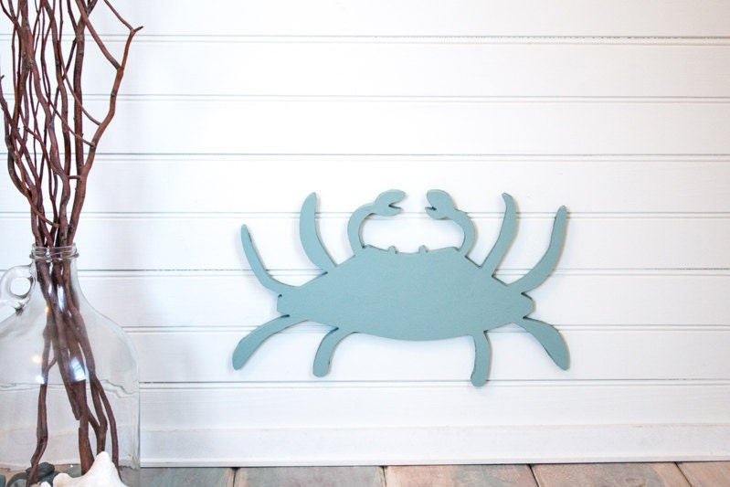 Blue Crab Beach Wall Decor Nautical Homebeach House