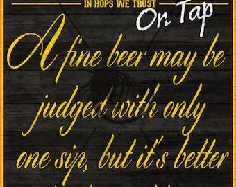 """Craft Beer Poster 11""""x17"""""""