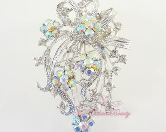 Wedding Brooch, Vintage Brooch, Bridal Brooch, Pageant Brooch, high quality Swaroviski Brooch, Rhinestone Brooch, Crystal Brooch BR0019