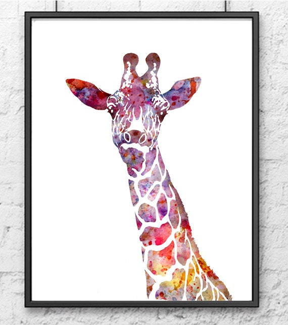Nursery Giraffe Print Animal Art Print Kids Wall Art