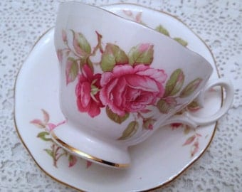 Queen Anne Footed Tea cup and Saucer