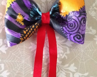 Hair Bow, Sally From Nightmare Before Christmas Inspired