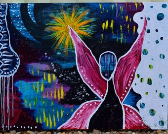 Beautiful abstract fairy painting