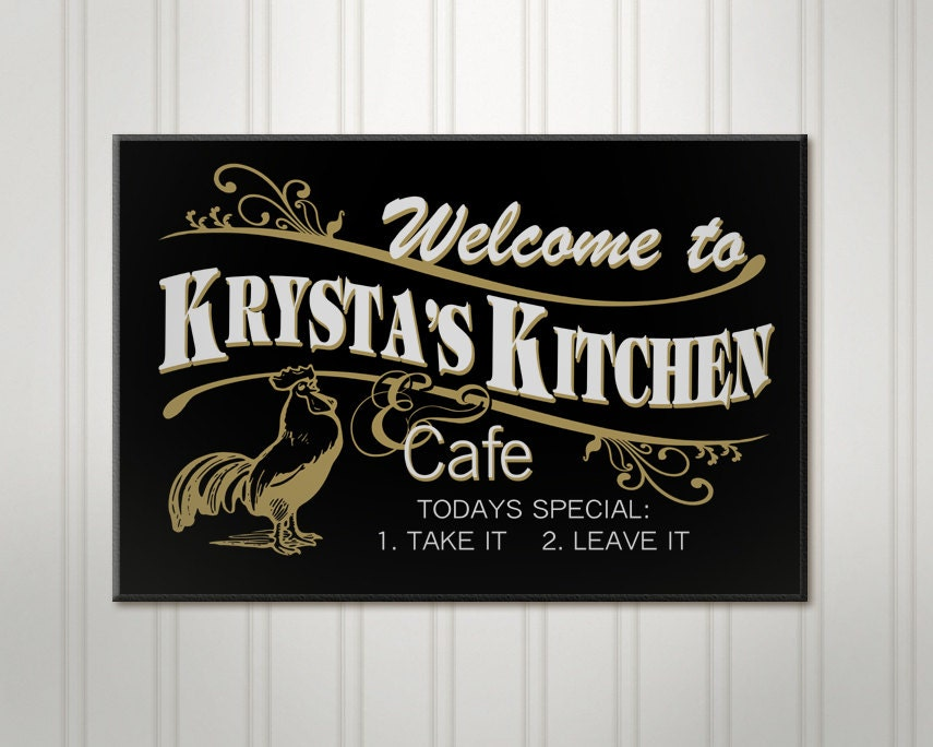 personalized kitchen sign cafe sign personalized sign