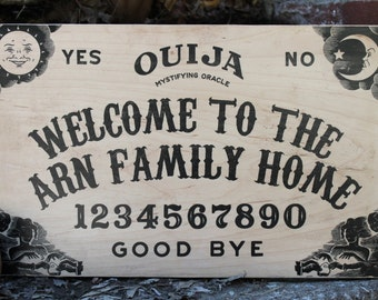 Ouija Board Welcome Sign