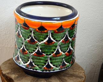 Talavera pot small cylinder