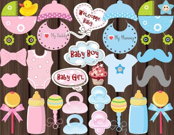 instant download baby shower photo booth props printable baby