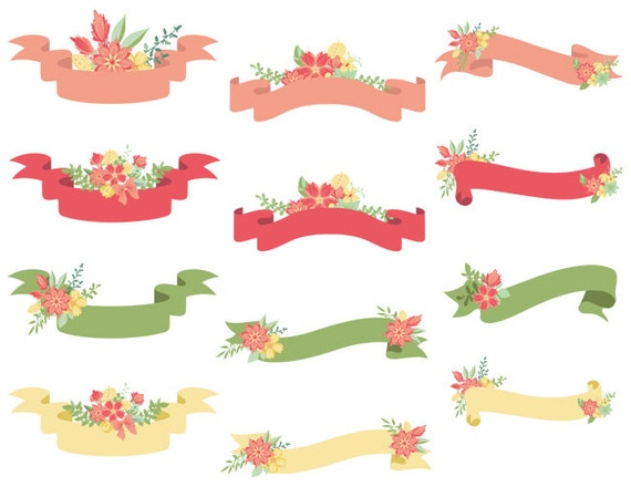 clipart floral banner - photo #46