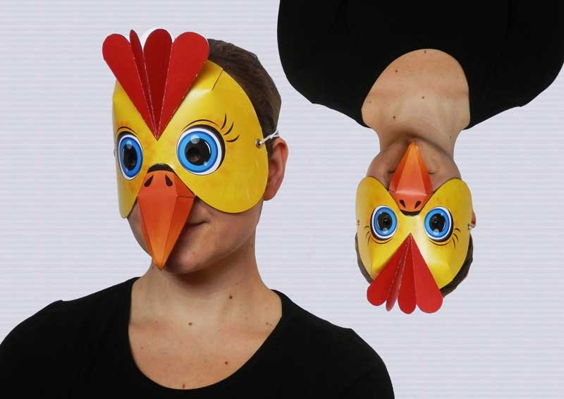 chicken mask printable images
