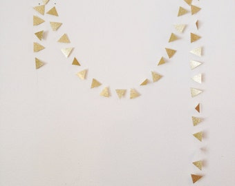 Glitter Tribal Triangle Garland