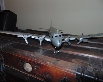 Vintage Marx DC4 Flagship American Airlines Pressed Steel Toy Airplane