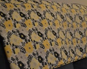 Valance, 16 Inches Long, Yellow and Black Floral, Multiple Sizes Available