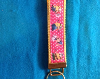 Minion ( Despicable Me) wristlet key fob keychain