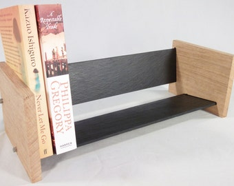 Oak Slate Design Book Rack - Modern Contemporary Style