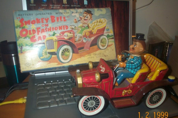 Cragstan Smokey Bill on Old Fashioned Car by SandBarCollectibles
