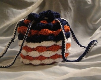 Small Crochet Drawstring Purse