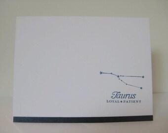 Taurus Zodiac Birthday Card, Taurus Zodiac Constellation Card, Astrology Sign Card