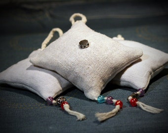 Lavender Bags Handmade with decorative beads and Antique / Vintage German Linnen/Fabric