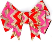 Pink and Gold Paper Bow