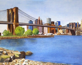 BROOKLYN BRIDGE - Acrylic paint