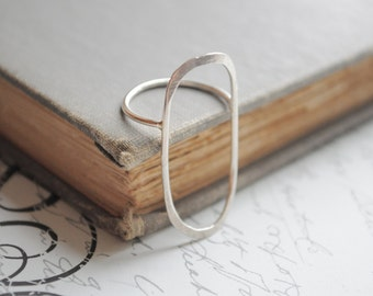 Sterling Silver Large Oval Ring