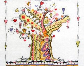 Tree of hearts Прекрасное орнаментальное дерево на котором плоды - сердечки. Много-много сердец и любви!