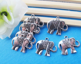 Lovely Cabinet Antique Silver tone/Antique Bronze Filigree Elephant Connector Pendant/Hanging Charm/Finding,DIY Accessory Jewellry Making