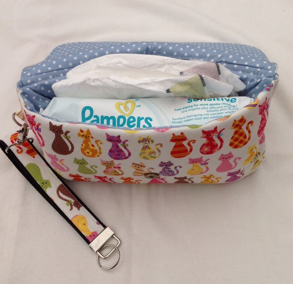small diaper bag baby wipes case cat fabric small diaper. Black Bedroom Furniture Sets. Home Design Ideas