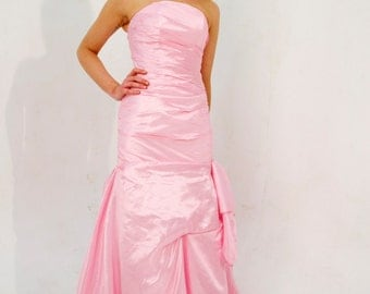 Custom made 'Monica' strapless prom dress figure-hugging mermaid wedding bridesmaid or evening gown