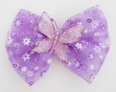 Lavender Butterfly Hair Bow - Purple Hair Bow - Girls Hair Bow - Toddler HairBow - Boutique Hair Bow - Hair Accessory