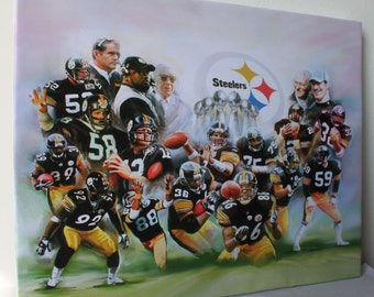 Pittsburgh Steelers-  Giclee Canvas Art - Ready to hang .