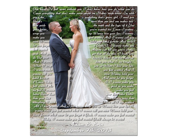 A Wedding Gift Movie : Wedding Gift/ Picture with Wedding Vows/ Wedding Vows Canvas/ Wedding ...