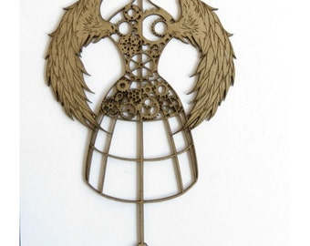 Steampunk Dress Form 1 Laser Cut Chipboard FREE SHIPPING! in US and Canada