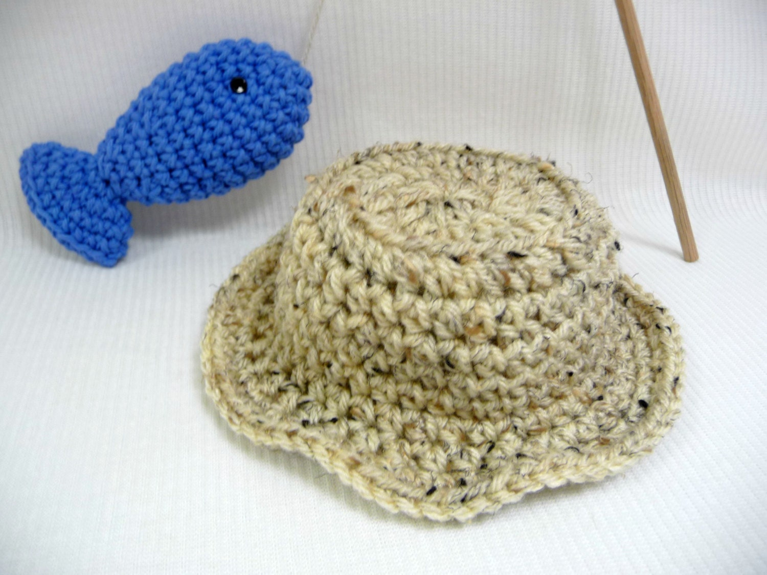 Baby fishing hat and fish photo prop baby hat for Baby fishing hat