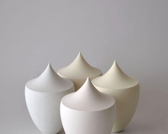 Contemporary Ceramic White sculpture / Porcelain vessel / Ceramic Art Object / Modern ceramic design / Piece #1