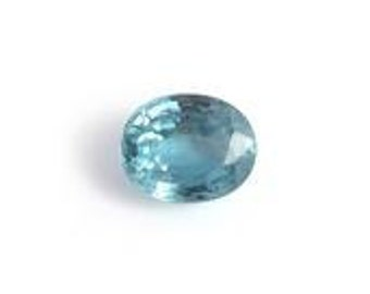 Blue Zircon Loose Gemstone Oval Cut 1A Quality 5x4mm TGW 0.40 cts.