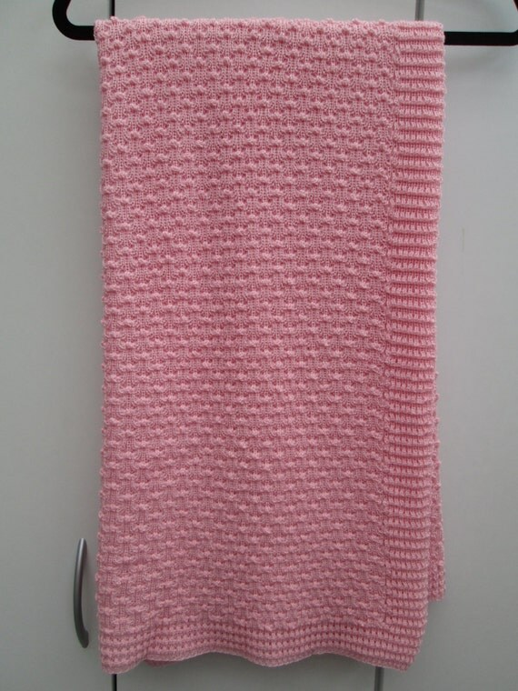 Knitted Blanket Patterns Nz : Knitted Cot Blanket Made in New Zealand from fine 100%