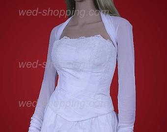 Stretch bridal bolero stretch tulle - transparent bolero jacket for wedding E1213 Tight bolero